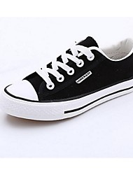 cheap -Men's Shoes Canvas Spring Fall Sneakers Lace-up for Athletic Outdoor White Black