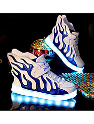 LED Light Up Shoes, Boys' Shoes Casual PU / Tulle Flats / Clogs & Mules Spring / Fall Comfort /  Flats  / Hook & Loop / Split Joint