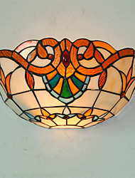 cheap -12 inch Retro Country Tiffany Wall Lights Glass Shade Living Room Bedroom light Fixture
