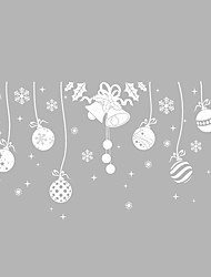 cheap -Wall Stickers Wall Decals Style Christmas Snow Bell PVC Wall Stickers