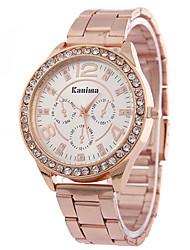 baratos -Mulheres Relógio de Pulso / Simulado Diamante Relógio Com Strass / imitação de diamante / / Lega Banda Casual / Fashion Prata / Dourada / Ouro Rose