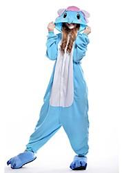 preiswerte -Kigurumi Pyjamas Gymnastikanzug/Einteiler Fest/Feiertage Tiernachtwäsche Halloween Blau einfarbig Kigurumi Für Unisex Halloween