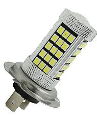 cheap -2x 12V-24V White Car Bulb 60 2835 SMD+3 3535SMD H7 LED Fog Light Lamp With Lens 3183