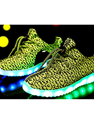 LED Light Up Shoes,Boy's Girl's Sneakers Spring Summer Fall Comfort Mary Jane Tulle Casual Lace-up  Black Blue Green Pink Red Gray
