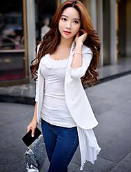 DABUWAWA Women's Formal / Work Simple Blazer,Solid Stand Long Sleeve