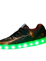 LED Light Up Shoes, Running Shoes Unisex Sneakers Spring / Summer Comfort Tulle Casual Flat Heel Black /  Walking