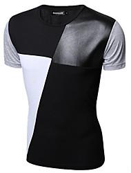 cheap -Men's Cotton T-shirt - Solid Colored