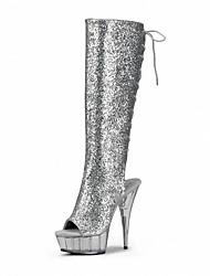 economico -Da donna-Stivaletti-Formale Casual Serata e festa-Plateau Club Shoes Light Up Shoes-A stiletto Plateau-Vernice Materiali personalizzati-