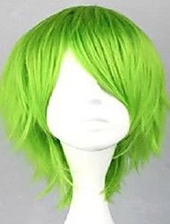 cheap -Capless Green Costume Wig  Synthetic Short Curly  Hair Wig  Cosplay Wigs 3 Colors