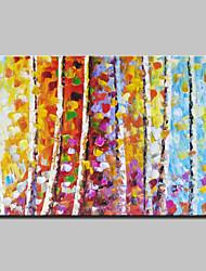 peintures à l'huile couteau arbres paysage peint à la main sur toile art moderne mur avec cadre étiré prêt à accrocher