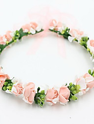 cheap -Beautiful Rose Flower Wreaths Headband for Lady Wedding Party Holiday Hair Jewelry