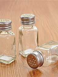 cheap -Glass Single Condiment Bottle Transparent Seasoning Bottle With Perforated Lid
