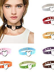 cheap -16 Colors Vintage Sexy Punk Gothic Heart Leather Necklace Women Jewelry Wholesale