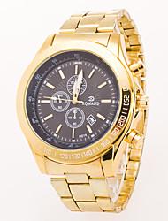 cheap -Men's Wrist Watch Calendar / date / day / Cool Alloy Band Fashion Gold