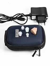 Недорогие -небольшие удобные регулируемые тон аккумуляторные слуховых аппаратов помощи в ухо ухо плагин Усиление звука глухого помощи