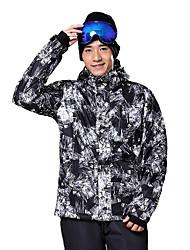 Abbigliamento da neve Giacche da sci/snowboard Per uomo Abbigliamento invernale Cotone Tessuto sintetico A quadri Vestiti invernaliTenere