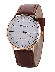 cheap -Men's White Case Leather Band Analog Quartz Wrist Watch Cool Watch Unique Watch Fashion Watch
