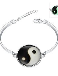 abordables -Émeraude Charmes pour Bracelets / Bracelets Rigides - Argent sterling, Émeraude Bohème, Punk, Européen Bracelet Vert Pour Mariage / Soirée / Quotidien