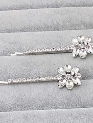 Rhinestone Hair Pin Headpiece Wedding Party Elegant Feminine Style
