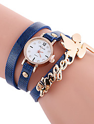cheap -Women's Bracelet Watch Hot Sale / Cool / / PU Band Casual / Fashion Black / White / Blue