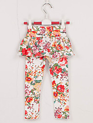 Mädchen Hose / Leggings-Lässig/Alltäglich Blumen Baumwolle Frühling / Herbst Weiß
