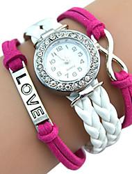 cheap -Women's Quartz Wrist Watch / Casual Watch PU Band Vintage Casual Bohemian Cool White Green Gold Pink Yellow Rose