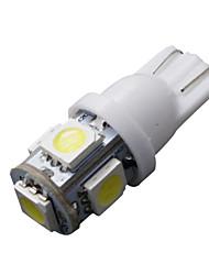 10 x LED xeno cuneo T10 bianco 5050 lampadine 5-SMD 192 168 194 158 2825 W5W