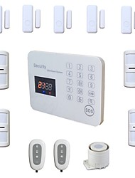 cheap -Wireless Wired GSM Alarm Systems Security Home Voice LCD Touch House Burglar Alarma System Kit Android IOS App Remote