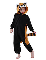 cheap -Kigurumi Pajama NEWCOSPLAY Raccoon Animal Sleepwear Polar Fleece Toilet version Children Kigurumi Pajama (without Shoes)