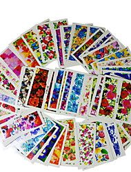 cheap -50 sheets nail art water decals transfer sticker charming fantastic flower pattern manicure decor tools