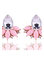 cheap -Women's Stud Earrings Crystal Geometric Costume Jewelry Floral Crystal Alloy Flower Jewelry For Party Daily Casual