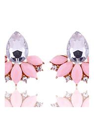 cheap -New Arrival Summer Women Fashion Jewelry Cute Pink Stud Earrings Rhinestone Crystal Earrings for Women