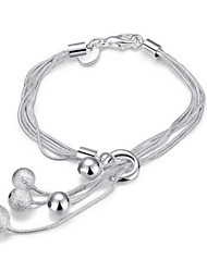 cheap -Women's Sterling Silver Adorable Others Snake Chain Bracelet Charm Bracelet Wrap Bracelet - Personalized Fashion Crossover Silver Bracelet