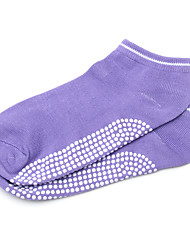 cheap -Women's Yoga Socks - Pink, Violet, Light Blue Sports Socks Short Sleeve Activewear Wearable, Breathable, Anti-skidding / Non-Skid /