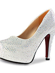 Недорогие -Для женщин Обувь на каблуках Полиуретан Осень Повседневные На шпильке Серебряный Красный 9,5 - 12 см