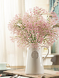 cheap -1 Branch Plastic Baby Breath Tabletop Flower Artificial Flowers