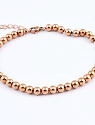 Fashion 14k Gold Plated 316L Stainless Steel Strand Bracelets