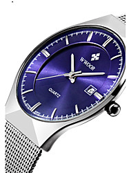 cheap -WWOOR Men's Couple's Quartz Wrist Watch Calendar / date / day Water Resistant / Water Proof Stainless Steel Band Luxury Casual Dress