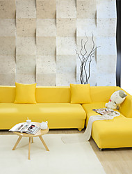 Contemporary Polyester Sofa Cover , With Ties Solid Jacquard Slipcovers