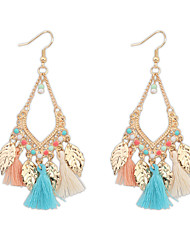 cheap -Women's Girls' 1 Drop Earrings Tassel Vintage Party Casual Bohemian Fashion Resin Gold Plated Alloy Leaf Geometric Jewelry Party Daily