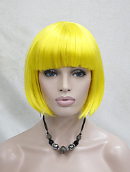 cheap -High-quality Synthetic Hair Yellow Anime Cosplay Costume Short BOB Wig