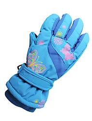 cheap -Ski Gloves Kid's Keep Warm Canvas Ski / Snowboard