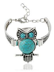 cheap -Bracelet Chain Bracelet Alloy / Zircon Animal Shape Bohemia Style Daily / Casual Jewelry Gift Light Green / Silver,1pc
