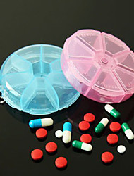Useful Portable 7 Day Pill Box Vitamin Pill Secure Case Large Compartment (Ramdon Color)