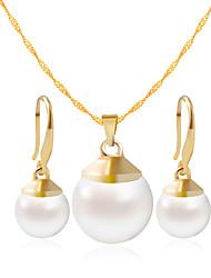 abordables -Mujer Conjunto de joyas - Incluir Collar / pulsera Oro / Blanco Para Boda / Fiesta / Diario / Casual