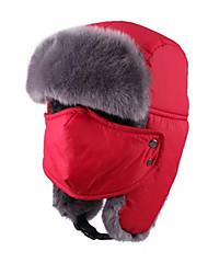 Недорогие -Ушанка Меховая шапка Лыжи Кепка Сохраняет тепло Сноуборд Зимние виды спорта
