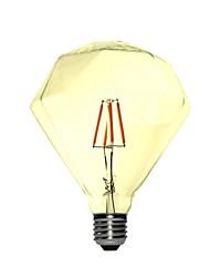 Недорогие -1шт 4 W 350 lm E26 / E27 LED лампы накаливания G95 4 Светодиодные бусины COB Декоративная Тёплый белый 220-240 V / 1 шт. / RoHs