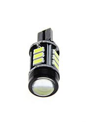 2PCS High Power White T15-5630-Black(12SMD+1COB)CANBUS   Backup Reverse Lamp  DC12V