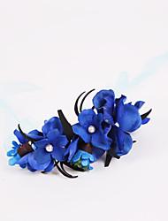 abordables -Fleurs de mariage Petit bouquet de fleurs au poignet Mariage Fête / Soirée Mousseline de soie Polyester Mousse 3cm