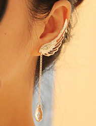 cheap -Women's Drop Earrings Crystal Fashion European Alloy Wings / Feather U Shaped Jewelry For Daily Casual
